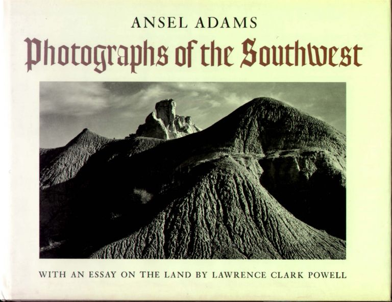 """Ansel Adam's Signed Coffee table Book """"Photographs of the Southwest"""" Ansel Adams."""