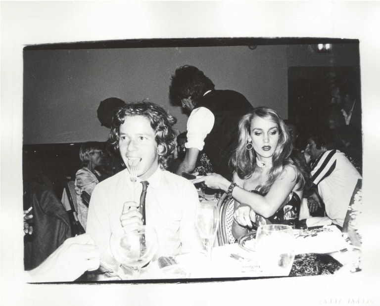 Andy Warhol Original Photograph of Jerry Hall and Keith Richards taken at Studio 54, Sotheby's and Warhol Foundation Provenance. Andy Warhol.