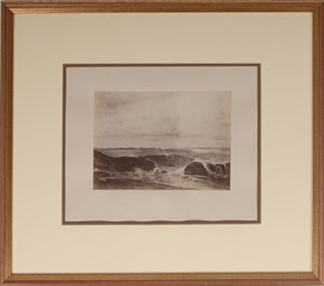 """Whistler Signed Photo of """"Blue and Silver: The Blue Wave, Biarritz"""" James Whistler."""