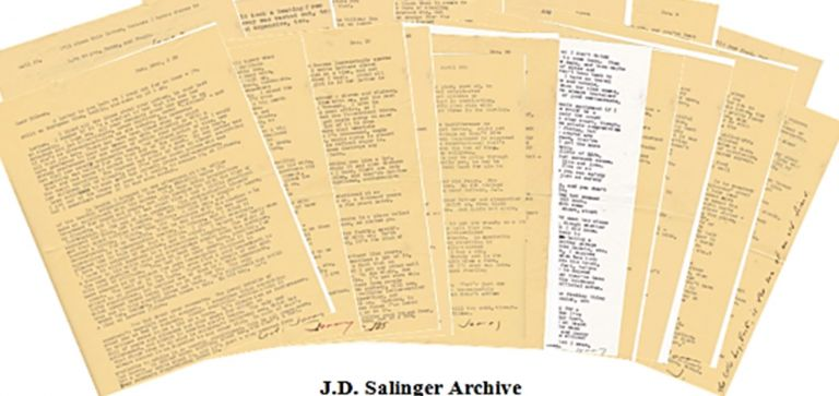 "J.D. Salinger Archive on his Childhood ""I spent most of my childhood plotting my escape from New York."" J. D. Salinger."