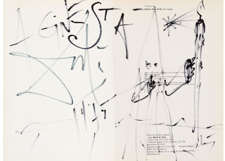 signed by Dalí with an original drawing. Salvador Dali.