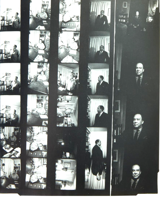 Langston Hughes Photo Session Original Contact Sheet by Noted African American Photographer Louis Draper. Langston Hughes.