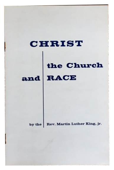 MLK speech calling on fellow religious leaders to take a stand for racial justice. 1958. Martin Luther King Jr.