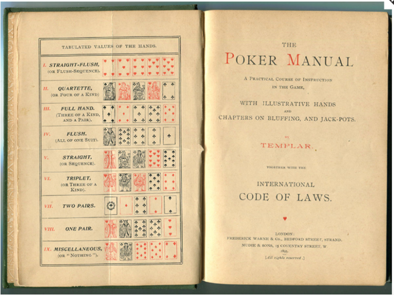 19th Century Illustrated Poker Manual- First edition. Hobbies, Poker.