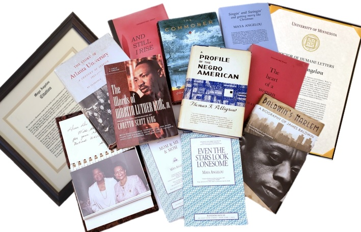 Archive of Maya Angelou's Personal Library Books, Her Honorary PhD Degrees and Unicef Work Album. Maya Angelou.