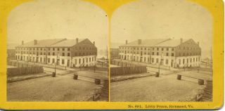 "Stereoview ""Libby Prison "" photographs Civil War"