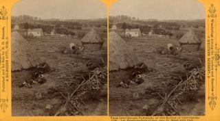 Gettysburg Stereoview. photographs Civil War