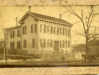Lincoln Home In Springfield Albumen Photo. Abraham, Lincoln