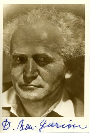 David Ben Gurion Signed Photo. David Ben Gurion