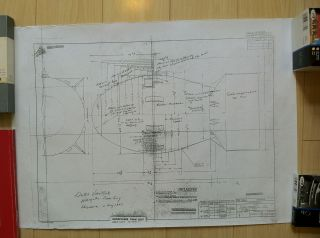 Blueprints of the Atomic Bomb with handwritten explanation of its components by a crew member of...