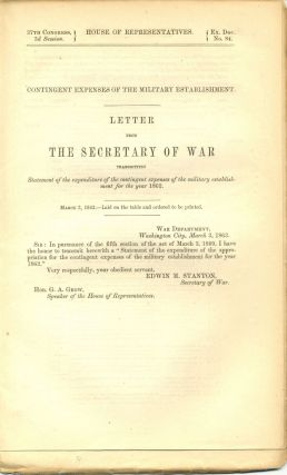Civil War Congressional Document. Congressional Civil War