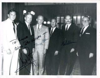 Apollo 11 Signed Photo by all three taken on their first evening out of quarantine After their...