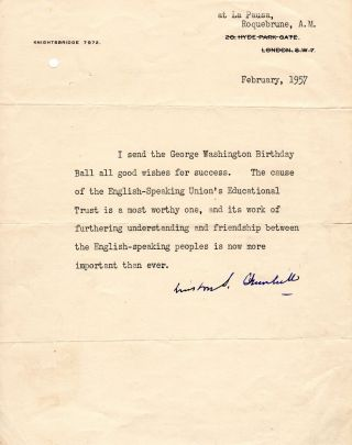 Winston Churchill Emphasizes the Importance of Friendship Between the United States and Britain...