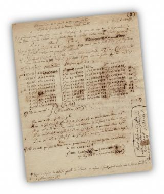 Burckhardt Four Page Handwritten Manuscript with Calculations on the Comet of 1770. Astronomy,...