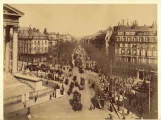 Original Early Photograph of Paris. Albumen Photograph, PARIS