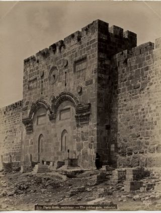 Photo of the Golden Gate in Jerusalem circa 1880s. JERUSALEM PHOTO, Golden Gate