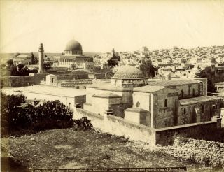 c.1880's Photo Showing a View of Jerusalem. JERUSALEM PHOTO