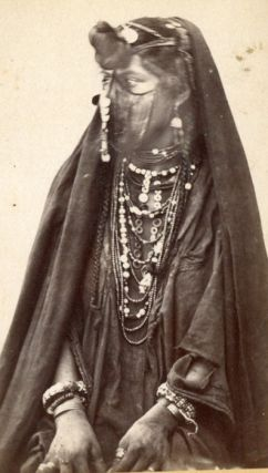 Collection of Original CDV Photographs Circa 1880. CDV Photographs Arab Woman