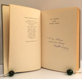 "Hemingway Signed Book ""To Have and Have Not"" Ernest Hemingway"