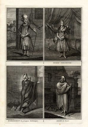 Engraving Persian Costumes, Printed in 1727. Persian Arabian Costume