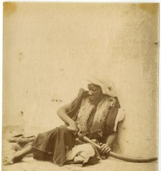 Arab Warrior With Sword, Original 19th Century Albumen Photo. 19c. Photo, Arab Warrior Sword