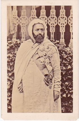 Abd el-Kader, an Original CDV Photograph, circa 1900. Arab Leaders