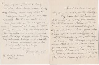 "Clara Barton Signed Letter on a Patient's Remarkable Recovery as a ""Test Case"" following a ""Test..."