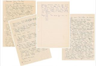 Surgeon Christiaan Barnard Autograph Manuscript Discussing His Experiences Performing Early...