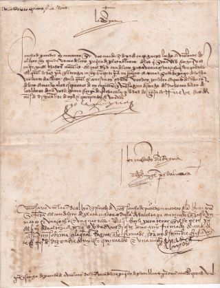 Queen Isabella Signs a Document Only 2 Months After Issuing the Decree of 1501, Intensifying the...
