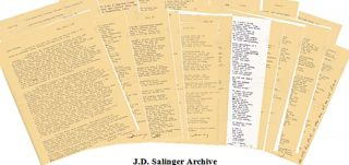 "J.D. Salinger Archive on his Childhood ""I spent most of my childhood plotting my escape from New..."