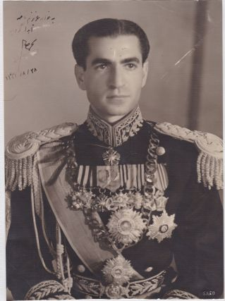 Shah of Iran Mohammed Reza Pahlevi Rare Signed and Inscribed Photo to His Sister in 1953, the...