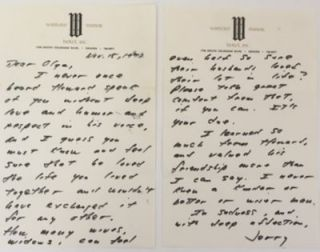 Rare J.D. Salinger Autograph Letter Signed On Love, Loss, and the Rarity of Being Sure of Another...