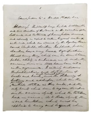 A Boston Abolitionist's Bequest to Aid Slaves Held Valid by State Supreme Court Justice, 1867....