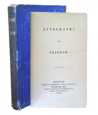 "Autographs for Freedom - Containing Frederick Douglass' Novella ""The Heroic Slave"" Douglass,..."