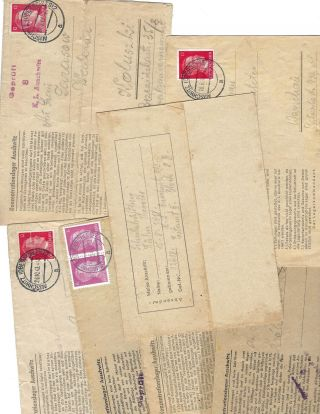 Collection of Original WWII German Concentration camp Letters from prisoners of Auschwitz....