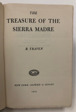 """The Treasure of the Sierra Madre"" Studio Copy That Led To Creation of the Film starring..."