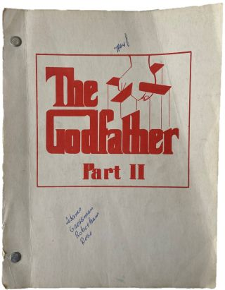 The Godfather Part II Original screenplay. Francis Ford Coppola