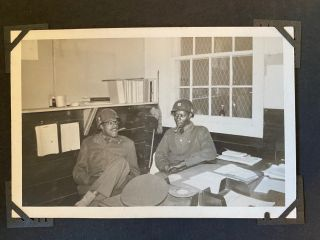 A Black Soldier's Military Photo Album During 1948 Desegregation Decree and Korean War. African...