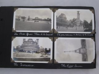American Couple Photo Album c. 1920s: Bethlehem, The Dead Sea, Nazareth, Galilee, Monte Carlo, ...