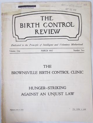 "Second ever issue Margaret Sanger's ""Birth Control Review"" Magazine, 1917. Margaret Sanger"