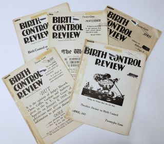 "5 issues of Margaret Sanger's ""Birth Control Review"" Magazine from 1920-1921. Margaret Sanger"