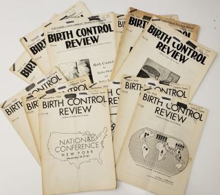 "Complete 12-issue Run of Margaret Sanger's ""Birth Control Review"" from 1929. Margaret Sanger"