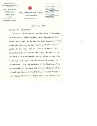 President Taft Typed Letter Signed on Mabel Boardman and the American Red Cross in World War I,...