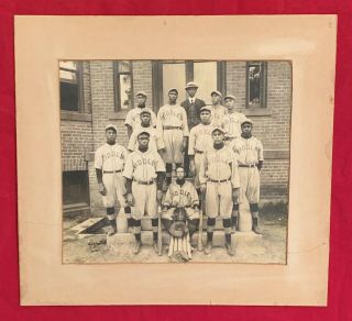 1910's Biddle University (J.C. Smith U) African American Baseball Team Photo. Original Photo...