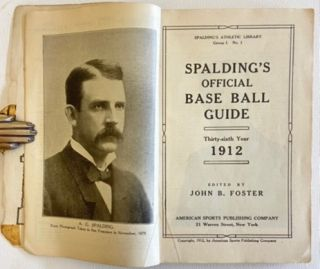 1912 Spalding's Official Baseball Guide. Official Baseball Guide 1912 Spalding