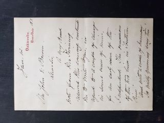 "Wellesley College President, Caroline Hazard, Autograph Letter Signed ""About the substitution of..."