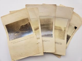 Original US Military Reconnaissance Photos for Report on Iwo Jima Invasion Preparation, Dated...