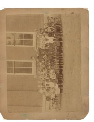 Integrated, Multiracial School Photograph, c. 1890-1910. African American, Education