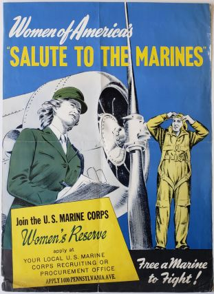 WWII Poster to Recruit Women for the US Marine Corps. Women Military, Marines