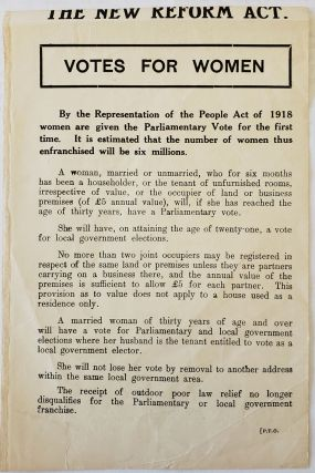 "Votes For Women: ""Every qualified woman should see that she gets the vote,"" 1918. WW1 Women..."